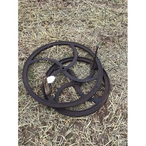 15 - Cast Iron wheels