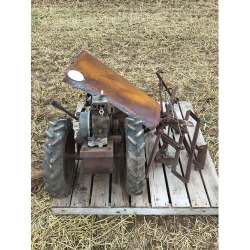 16 - Garden rotavator with attachments