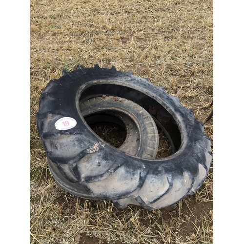 19 - Front & rear tractor tyres