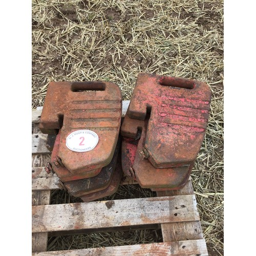 2 - 8 Tractor weights