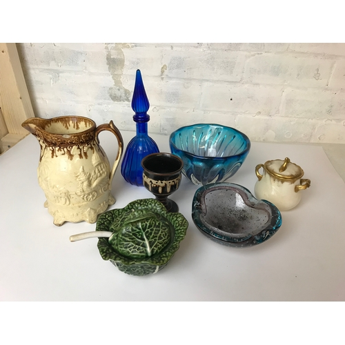 29 - selection of pottery and glass...