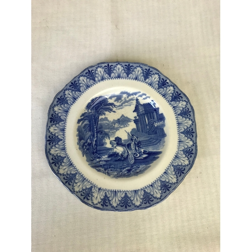 41 - Cauldon side plate, scenes of a 2 horse chariot. 8.5 inches....