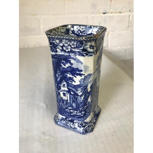 45 - Pratts vase, lakeside scenes. 17cm....