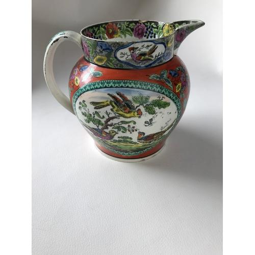 53 - Early 19th century cream jug. 14cm....