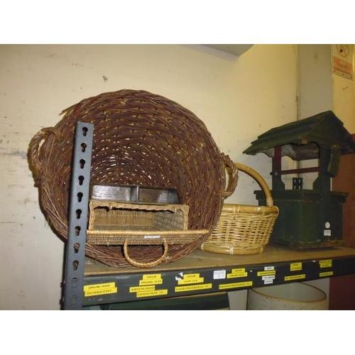 26 - Wicker Basket Plus Other...