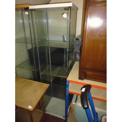 33 - Square Glass Display Cabinet...
