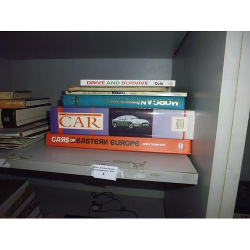 4 - Selection Of Books On Cars Including The Morgan And Renault...