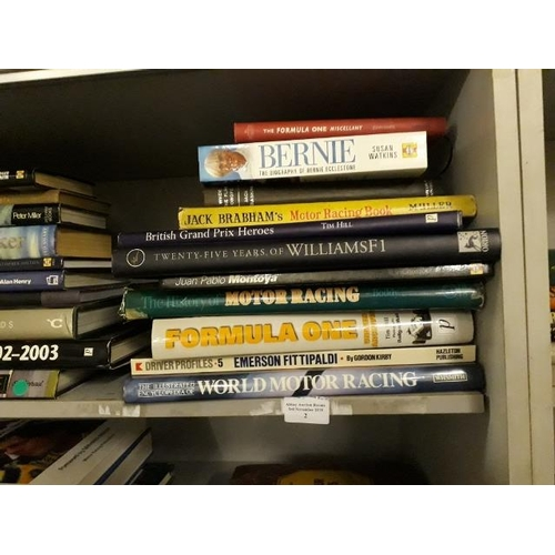 2 - Stack Of Motor Racing Books Including Juan Pablo Montoya...
