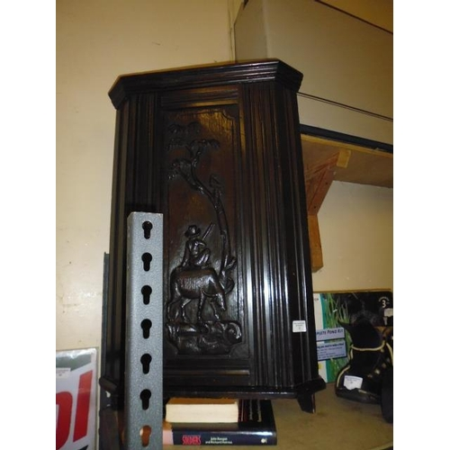 23 - Victorian Carved Wall Cabinet...