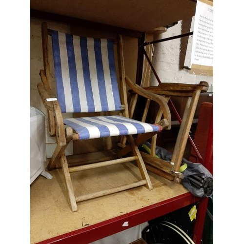 56 - 2 Vintage P & O Deck Chairs...