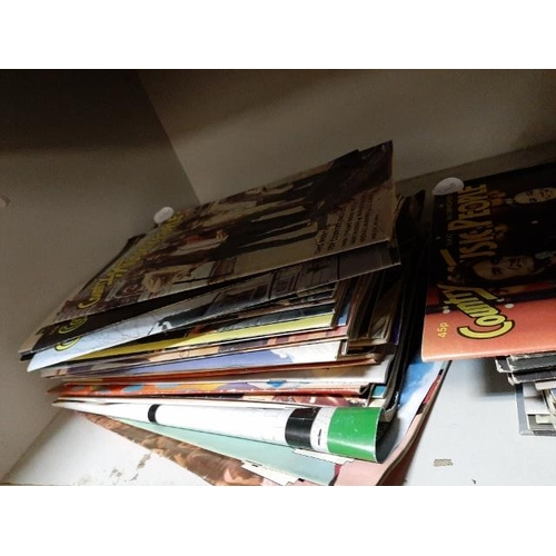 2 - 2 Stacks Of Country Music People Magazines...