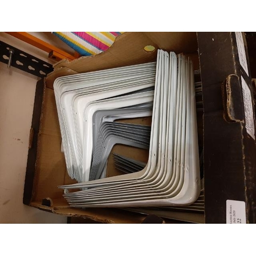 22 - Box Of Metal Brackets