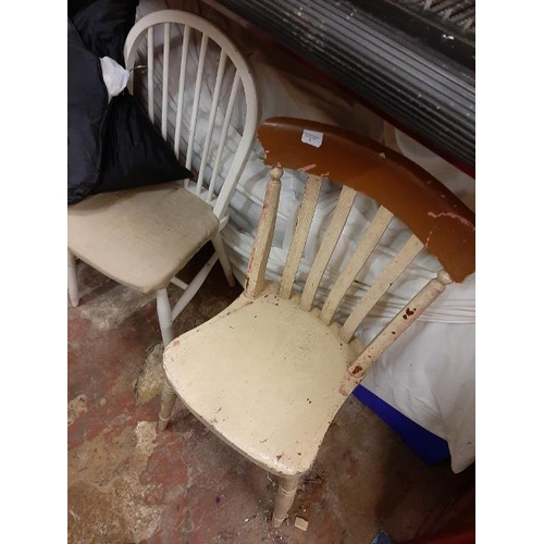 36 - 2 Vintage Painted Kitchen Chairs