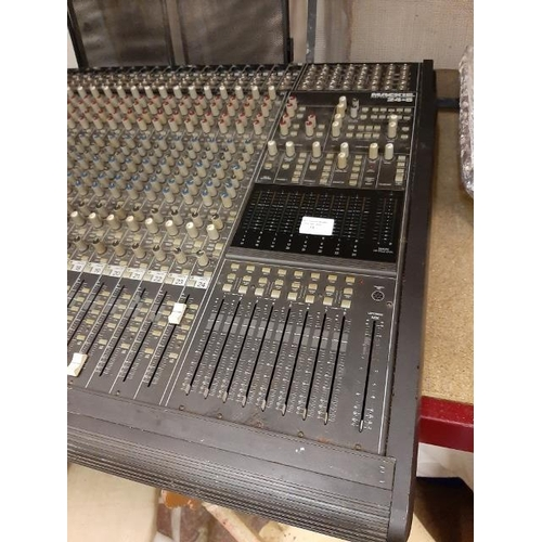 33 - Mackie 24 X 8 X 2 8-Bus Mixing Console 24.8 Untested No Power Leads Some Buttons Missing
