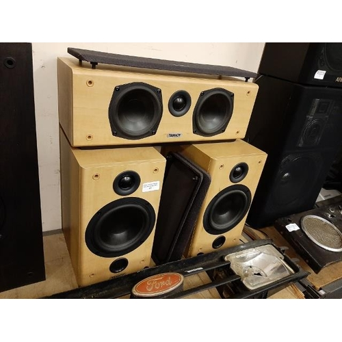 15 - Set Of 3 Tannoy Mercury Custom Speakers...