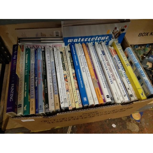 23 - Box Of Art Books On Watercolour Painting Tuition & Techniques...