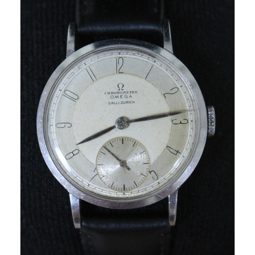 90 - An Omega Galli-Zurich Chronometer with seconds subsidiary, diam. 3.3cm....