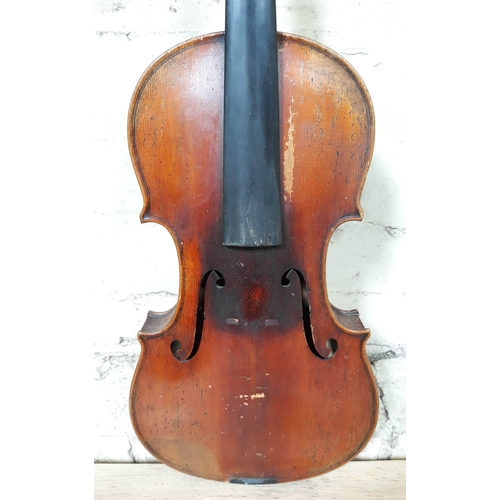 82 - A late 19th Century German violin by Louis Lowendall, Dresden, inscribed 'Lowendall's Paganini Violi...