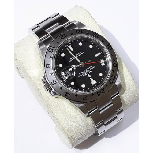 111 - A Rolex 40mm Oyster Perpetual Date Explorer II stainless steel wristwatch with black dial and stainl...