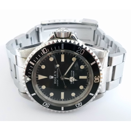 100 - A Rolex Submariner Oyster Perpetual stainless steel wristwatch serial number 5717007 circa 1979 with...