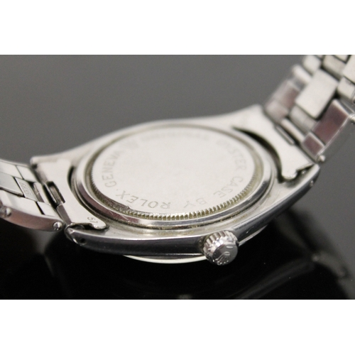 101 - A Gentlemans stainless steel Rolex Tudor Oyster 'Elegante' wrist watch, the round silver dial having...