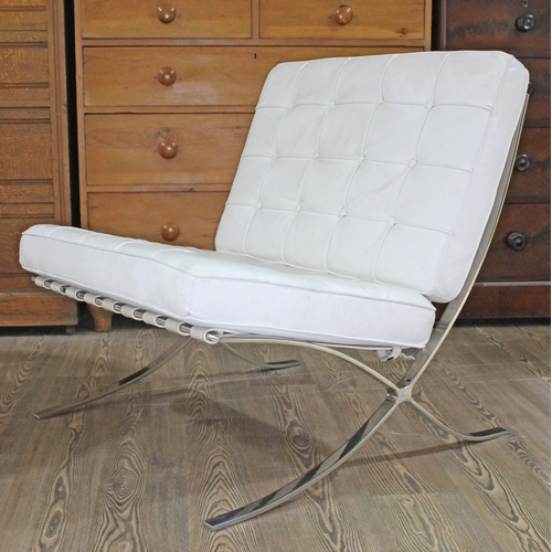 11 - A Barcelona chair after Mies Van Der Rohe....