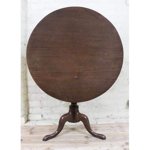 22 - A Georgian mahogany birdcage tripod table....