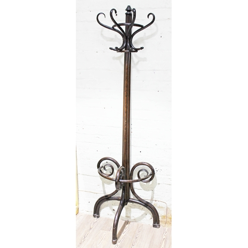 31 - An early 20th Century bent wood hat and coat stand, height 201cm....