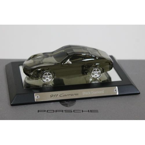 368 - A Swarovski Porsche 911 Carrera Black Diamond, boxed with stand and certificate....