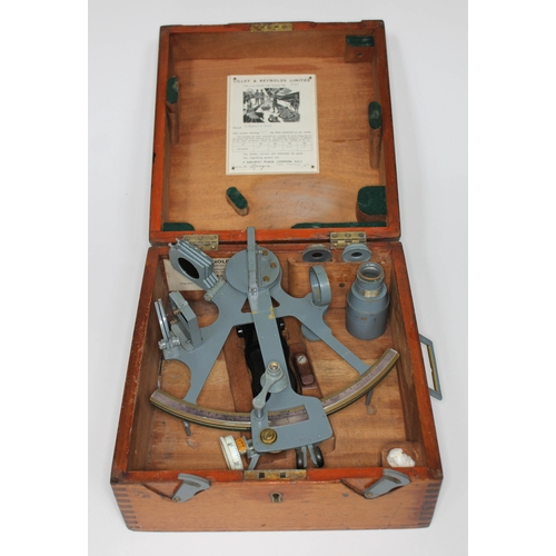 37 - A cased Lilley & Reynolds sextant....