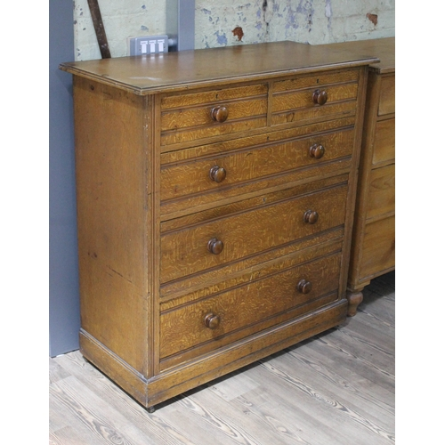 4 - A Victorian scumble pine chest of drawers, width 107cm, depth 48cm & height 113cm....