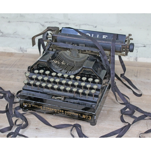 42 - A Molle No3 vintage typewriter, unboxed....