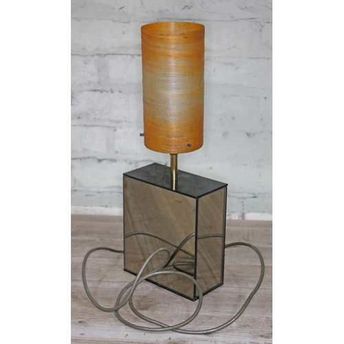 7 - A retro 'Miros' mirrored table lamp by Lewy, height 47cm....