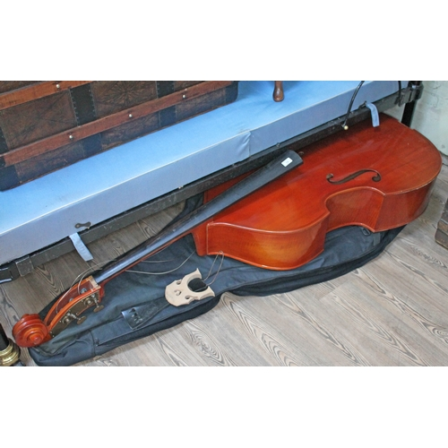 74 - A student double bass - as found....