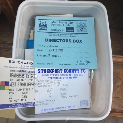 18 - A box of football tickets...