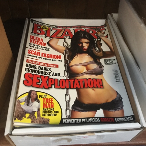 39 - A box of Bizarre adult magazines...