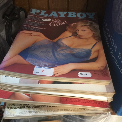 7 - A collection of Playboy magazines from 1970s ( 10 )...