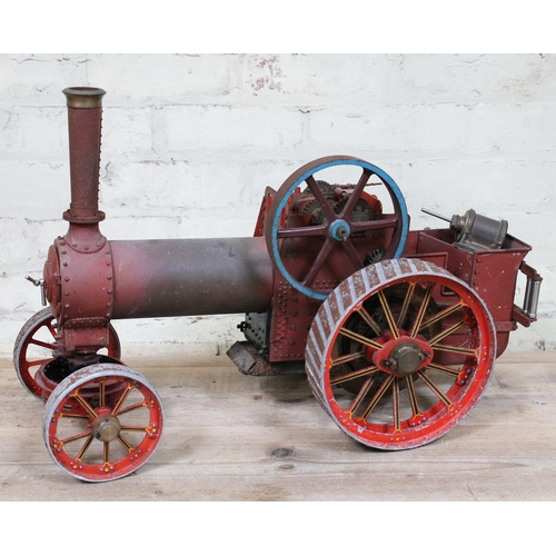 1 - A live steam traction engine, partially finished, length 64cm....