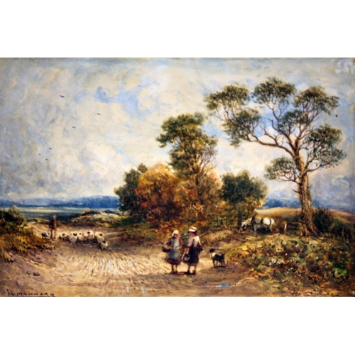 348 - William Manners (1860-1930), a group of three country scenes entitled 'Noonday', 'Staveley Kendal' a...