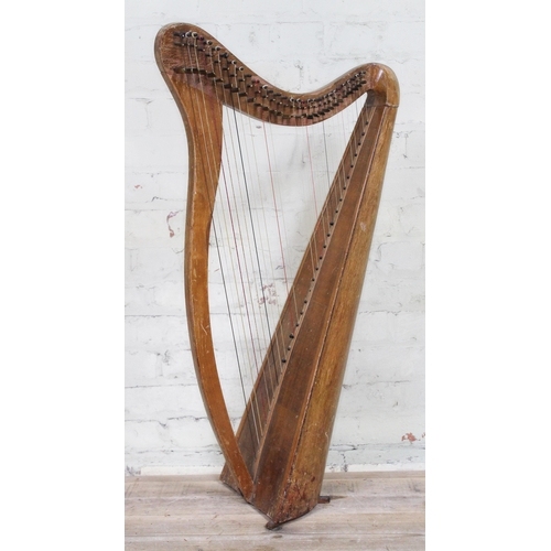 4 - A Celtic harp circa 1930s, height 98cm....
