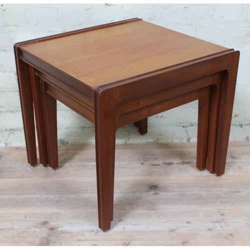 17 - A 1960s teak nest of tables by Remploy, height 46cm....