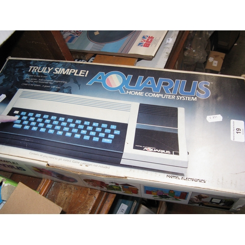 19 - An Aquarius Home computer system...