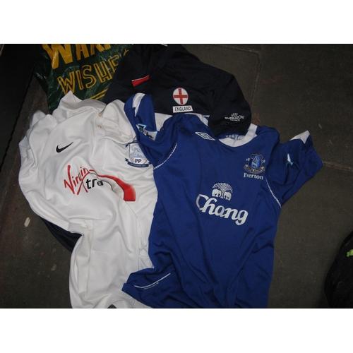 48 - 3 adult football shirts...
