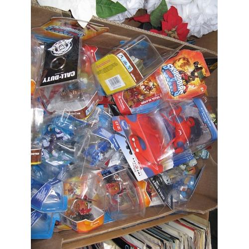 56 - A box of Skylander figures...