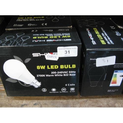 31 - 24 LED bulb lights...