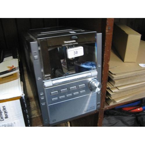 38 - A Panasonic SA-PM28 CD stereo system...