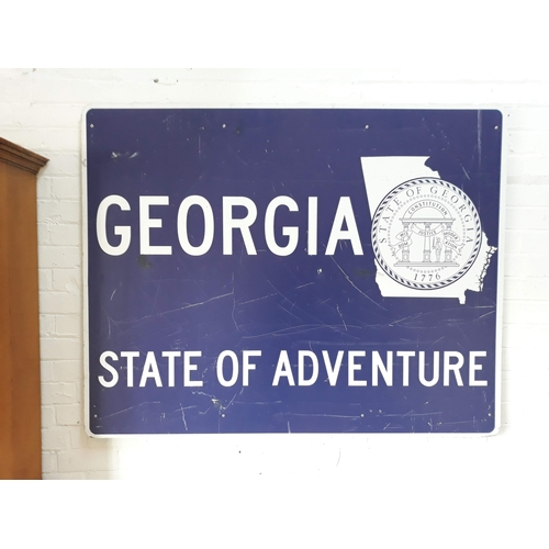 100E - A large American road sign 150cm x 119cm....