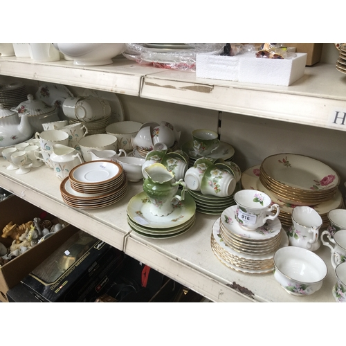 916 - Selection of various china teaware etc,...