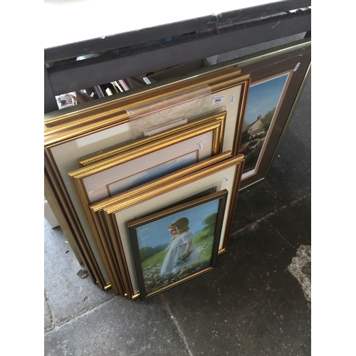 944 - Quantity of 7 paintings to include Judy Boyes ( with original receipts )...
