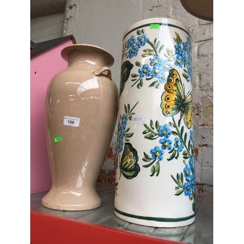108 - 2 large vases...